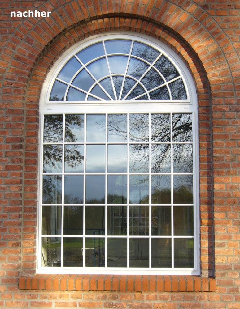 Denkmalgeschützte Sprossenfenster